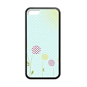 Lovely dot flower and blue dot background personalized creative custom protective phone Sumsung Galaxy S4 I9500