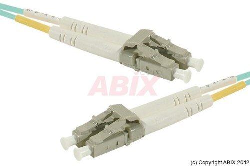 (EXC 391674 Duplex LC-UPC Male to LC-UPC Male Fiber Patch Cable - Aqua Blue)