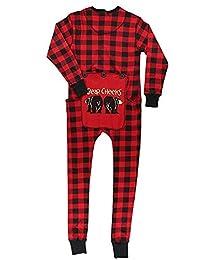 JJAI Red Plaid Onesie Adult Family Matching Pajamas