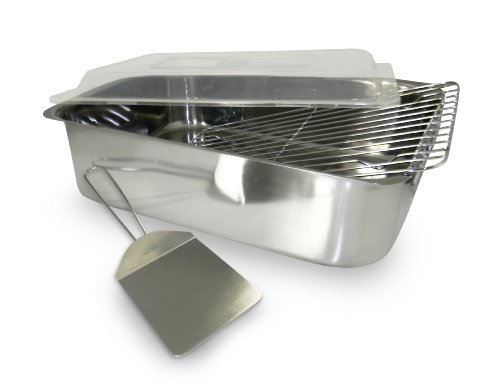 ExcelSteel 531 4 Piece Stainless Roaster with Cover, Rack and Spatula