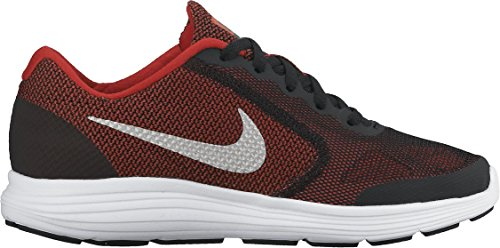 NIKE Boys' Revolution 3 Running Shoe (GS), University Red/Metallic Silver/Black, 6 M US Big Kid