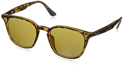 Ray-Ban RB4258F Square Asian Fit Sunglasses, Dark Tortoise/Brown, 52 ()
