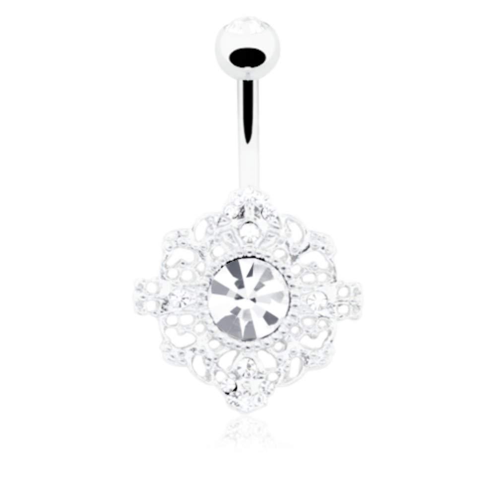 14 GA Spiritual Mandala Non Dangle Belly Button Ring Davana Enterprises Sold Individually