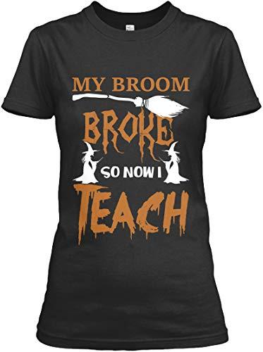 teespring My Broom Broke so. 2XL (18-20) - Black Tshirt - Gildan Women's Relaxed Tee T Shirt -