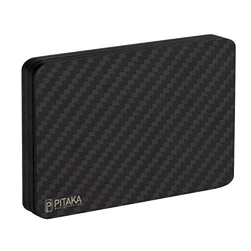 PITAKA Magwallet,Minimalist Slim Carbon Fiber Modular Card Holder RFID Blocking Wallet ()