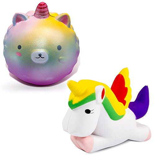 MMTX 2 PCS Super Soft Cut Animal Squishies Unicornio Kawaii Cream Scented Lento Levantamiento Squishy Stress Relief Toys