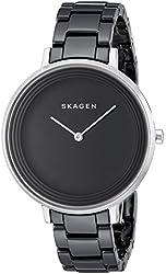 Skagen Women's SKW2303 Ditte Black Stainless Steel Watch with Ceramic Bracelet