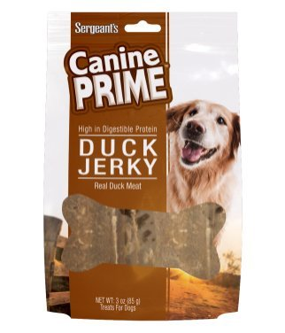 Sergeant's Canine Prime Duck Jerky - Case of 12 (7 oz)