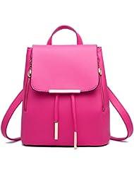 KARRESLY Casual Purse Fashion School Leather Backpack Shoulder Bag Mini Backpack For Women & Girls