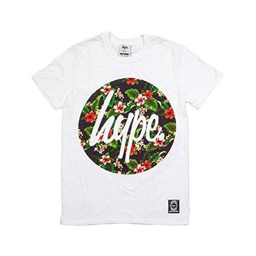 Hype T-Shirt Flower Circle, Größe L, weiß