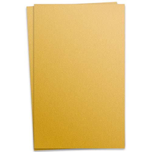 Metallic Super Gold 12-x-18 Cardstock Paper 100-pk - PaperPapers 300 GSM (111lb Cover) Large Size Card Stock Paper - Business, Card Making, Designers, Professional and DIY - Cardstock Curious Paper Metallic