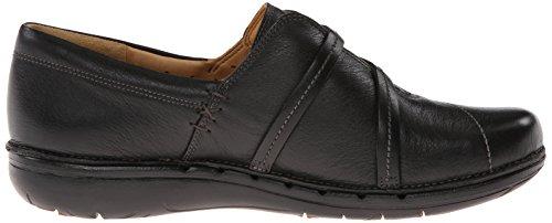 Clarks Un Esma Slip-on del holgazán Black Leather