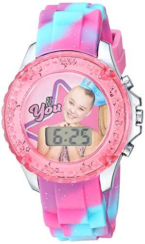 Watch Plastic Pink (Nickelodeon Girls' Quartz Watch with Plastic Strap, Pink, 16.3 (Model: JOJ4006)