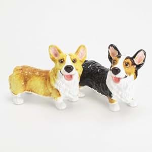 Pembroke Welsh Corgi Dog Ceramic Figurine Salt Pepper Shaker 00036 Ceramic Handmade Dog Lover Gift Collectible Home Decor Art and Crafts