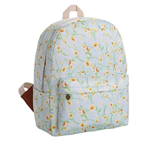 Da.Wa Mode leichter Canvas Laptop Rucksack College Rucksack für Mädchen