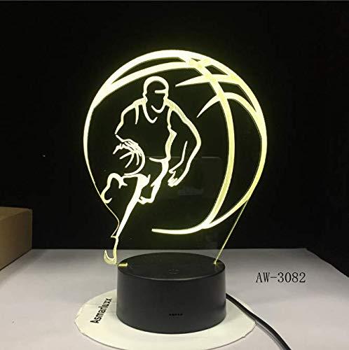 Baloncesto Deporte Decoración Del Hogar 3D Led Ilusión Táctil 7 ...