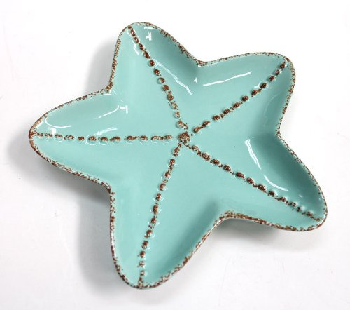 Ceramic Starfish Plate - Set of ()