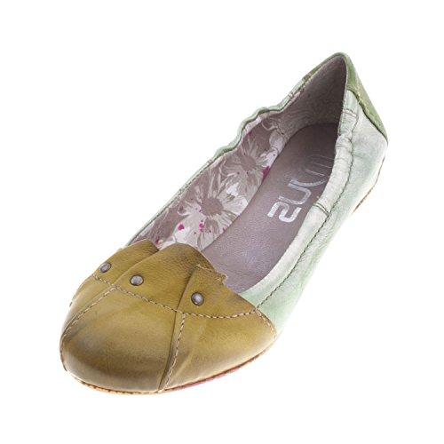 Mjus Women's Leather Ballerina Shoe (291106) GREEN/SALVIA RZ2R2u6JdS