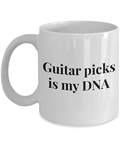 - Funny 11Oz Coffee Mug, Guitar Picks Is My Dna for Dad, Grandpa, Husband From Son, Daughter, Wife for Coffee & Tea Lovers