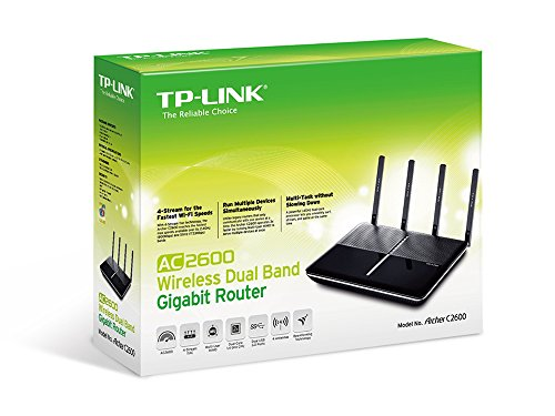 TP-Link AC2600 Wireless Wi-Fi Gigabit Router, 4-Stream Technology, Gaming, Streaming (Archer C2600)