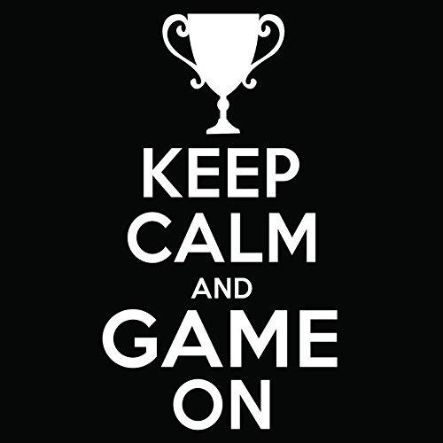 Trophy Keep Calm and Game Onビニールデカールステッカー| Cars Trucks Vans Windowsノートパソコン壁カップ|ホワイト| 5.5 X 3インチ| kcd1852   B076JJY183