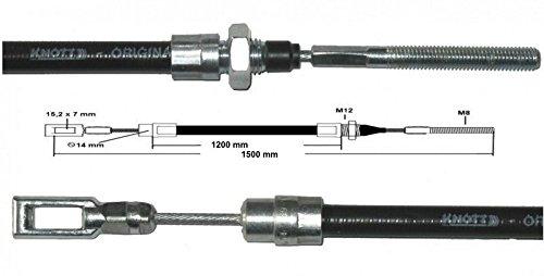 Knott câ ble de frein 35006, 24 HL: 1200 mm - GL: 1500 mm - Câ ble Knott ancienne version 24 HL: 1200 mm - GL: 1500 mm - Câble Knott ancienne version FKAnhängerteile