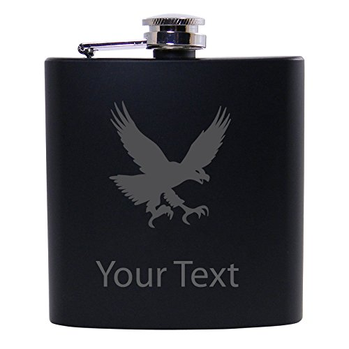 Personalized Custom Eagle Black Stainless Steel Hip for sale  Delivered anywhere in USA