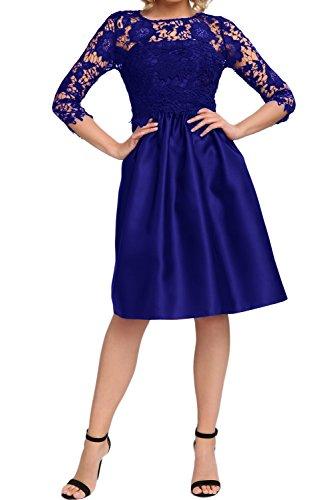 azul trapecio 38 para Vestido Topkleider mujer real WOwxTZ6wqv