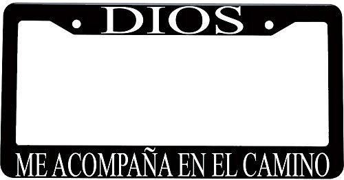 Dios me acompaña en el camino spanish christian plastic license plate frame (Decoracion Para Autos compare prices)
