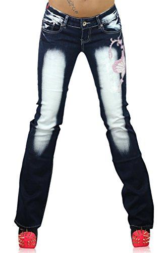 blue Navy Boot Pink Pantalones CB mujer para Cut Age Vaqueros 035 Crazy 08wxqA78