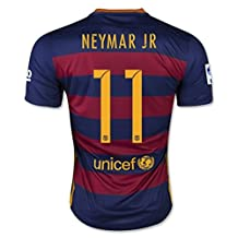 NEYMAR JR #11 Barcelona Home Jersey 2015-16(Authentic name and number)