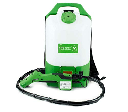 Victory Innovations VP300ESK - Cordless Electrostatic Backpack Sprayer for Disinfectants, Pesticides, Sanitizers, Degreasers (2.25 Gal Tank)