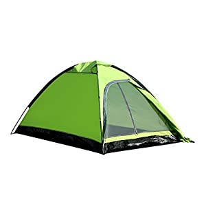 Enkeeo 2 Person Camping Tent Ultralight Backpacking Tents with Carry Bag Dome Shape for Family Hiking Park Beach (Green)