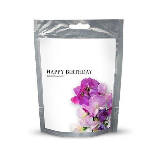Kit de Cultivo Sobre Feliz Cumpleaños Flores de Colores LATHYRUS BIO BAZA
