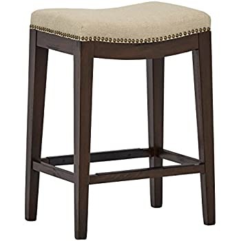 Amazon Com Chantal Backless White Counter Height Stools