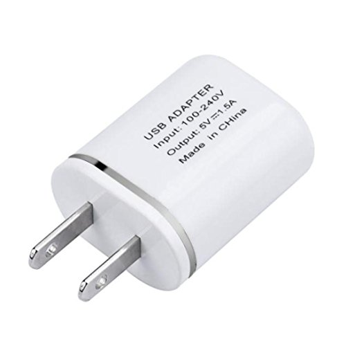 Mchoice US Plug Wall USB Charger + Type-C USB Cable Charging Set for ZTE Zmax Pro Z981/Google Pixel XL (Silver)