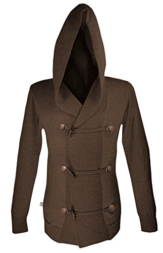 Musterbrand Assassin's Creed Cardigan tricoté Homme Musketeer Wool Hoodie Marron