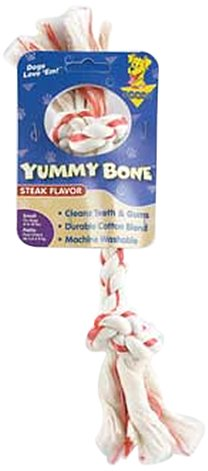 Aspen Pet Small 2 Knot Yummy Rope Bone, Steak Flavored, My Pet Supplies