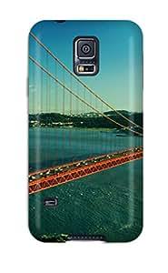 Flexible Tpu Back Case Cover For Galaxy S5 - Golden Gate Bridge