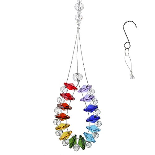 H&D Crystal Hanging Suncatcher Octagon Beads Prism Home Window Decoration Hand Crafts -