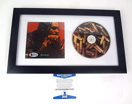 - Post Malone Stoney Signed Autograph CD Framed Beckett BAS COA B