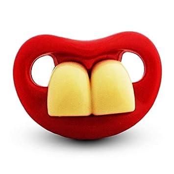 Chupete chupete y humorística dos dientes grandes: Amazon.es ...