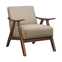 Farmhouse Accent Chairs Lexicon Elle Accent Chair, Brown farmhouse accent chairs