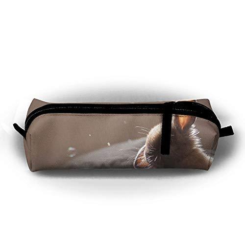 Kui Ju Pencil Bag Pen Case Rabbit Cute Animal Cosmetic Pouch Students Stationery Bag Zipper -