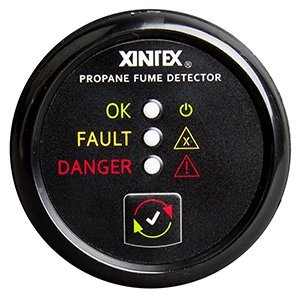 Xintex Propane Fume Detector w/Plastic Sensor - No Solenoid Valve - Black Bezel Display
