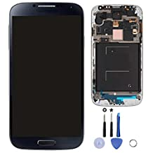 Blue Black LCD + Touch Screen Digitizer + Frame Assembly for Samsung Galaxy S4 IV I9505 S4 i337 AT&T M919 T-Moblie