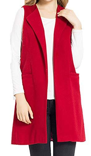 流用するトランジスタ大事にする[JOKHOO] [JOKHOO Women`s Wool Blend Sleeveless Long Vest Jacket Longline Slim Waistcoat] (並行輸入品)