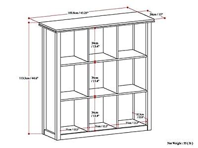 Simpli Home Artisan 8 Cube Storage / Sofa Table