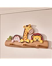 Fantasy Fields - Sunny Safari Animals Thematic Kids Wooden Wall Hooks   Imagination Inspiring Hand Painted Details   Non-Toxic, Lead Free Water-Based Paint