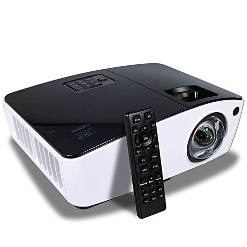 Ultra Short Throw Projector HDMI 8000 LED Lumens 2000 ANSI Lumens Data Powerpoint Presentation Business Church Projector by NIERBO